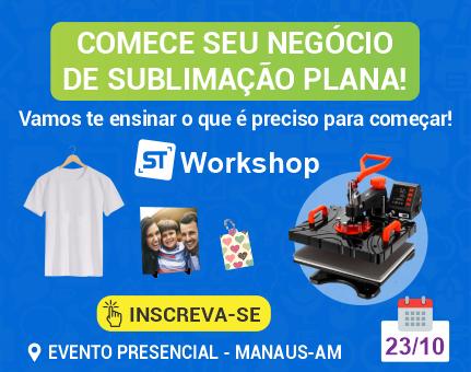 workshop curso sublimacao prensa plana em manaus am amazonas